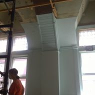 SCC Progress: Classroom's original ceiling exposed