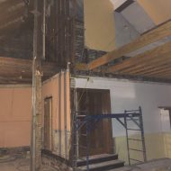 SCC Progress: Floor framing for new volunteer offices start